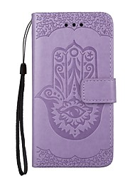para la cubierta del caso cubierta del sostenedor de la tarjeta con el soporte flip magnético grabado en relieve patrón de cuerpo entero