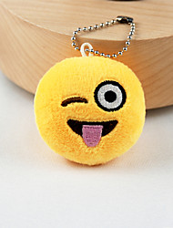New Arrival Cute Emoji Playful Face Key Chain Plush Toy Gift Bag Pendant