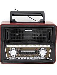 SM-1802 Портативный радиоприемник МР3 плеер Фонарь Bluetooth SD картаWorld ReceiverЧерный Золотой