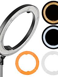 Andoer RL-680B 18.9/48cm 55W Dimmable 5500K Macro LED Video Ring Light Lamp 240pcs Beads w/ White Orange Filter Flexible Metal Pole Make-up Mirror Ca