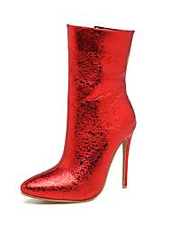 Femme Chaussures Similicuir Hiver Bottes à la Mode Bottes Talon Aiguille Bout pointu Bottine/Demi Botte Avec Pour Mariage Soirée &