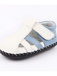 Baby Sandals Comfort First Walkers Summer Cowhide Casual White/Blue Dark Blue Flat