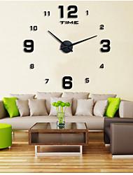 Модерн Повседневный Офисный Сад Настенные часы,Круглый Нержавеющая сталь Этиленвинилацетат Применение В помещении Часы
