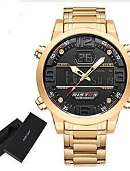 Муж. Детские Спортивные часы Армейские часы электронные часы Японский Кварцевый LED Календарь Секундомер Защита от влаги С гравировкой