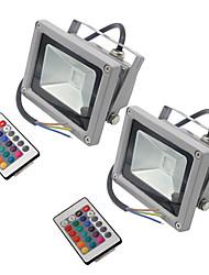 2 PC hkv® 10w 900-1000 lm rgb wasserdichte Girlande führte Flutlicht integrieren geführtes ac85-265v