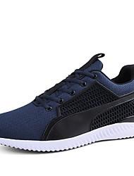 Для мужчин обувь Натуральная кожа Дышащая сетка Наппа Leather Кожа Осень Зима Удобная обувь Спортивная обувь Шнуровка Назначение