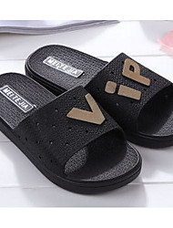 Men's Slippers & Flip-Flops Comfort Summer PVC Leather Casual Brown Dark Blue Black Flat