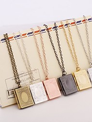 Men's Women's Pendants Jewelry Locket Square Silver Plated Handmade Multi-ways Wear Jewelry For Dailywear Casual