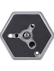 andoer 1/4 trípode monopod hexagonal de liberación rápida reemplazo de placa de montaje para 3038/3039/3047/3055 para 029/229 / rco qr
