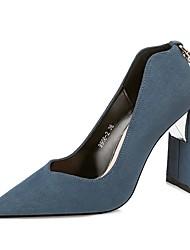Damen Schuhe Wildleder Herbst Winter Pumps High Heels Für Kleid Party & Festivität Schwarz Rot Blau Khaki