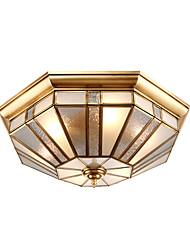 40 lâmpadas e lanternas de azulejo de europa são contraídas para absorver a luz de domo lâmpada de cobre completa sala de estar quarto