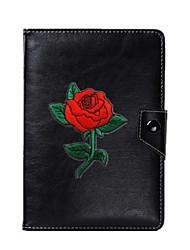 caja universal de la cubierta del soporte de la PU de la flor para 7 pulgadas 8 pulgadas 9 pulgadas 10 pulgadas tableta PC