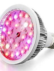 24W E26/E27 LED Grow Lights 24 High Power LED 580-660 lm AC85-265 V 1 pcs
