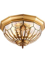 lâmpada de cobre de estilo europeu lâmpada de quarto lâmpada de sala de estar lâmpada idílica lâmpada americana redonda lâmpada criativa