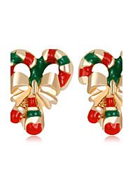 Mujer Niños Pendientes cortos Chrismas Moda Brillante Legierung Joyas Para Nochevieja Navidad
