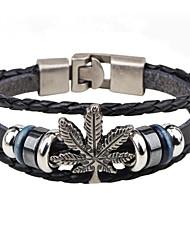 Муж. Кожаные браслеты Мода Винтаж Кожа Сплав В форме листа Бижутерия Назначение Повседневные На выход