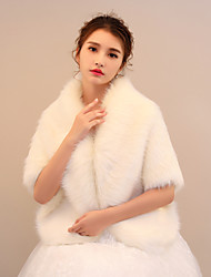 Women's Wrap Shawls Faux Fur Wedding Party/ Evening