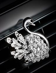 coche de salida de aire parrilla de perfume natural diamante de oro-plateado personal creativo aireador purificador de aire