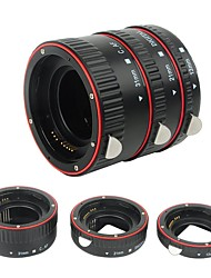 plástico electrónico af macro tubo de extensión enfoque automático af lente macro anillo de tubo de extensión con cubiertas para canon ef