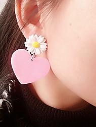 Mujer Niños Pendientes cortos Personalizado Estilo lindo China Forma de Corazón Joyas Para Halloween Discoteca