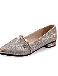 Для женщин Обувь Полиуретан Весна Лето Удобная обувь Мокасины и Свитер На толстом каблуке Блочная пятка Заостренный носок Назначение
