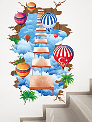 Landscape Wall Stickers Plane Wall Stickers Decorative Wall Stickers,Paper Material Home Decoration Wall Decal