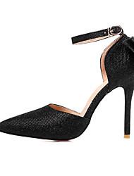 Mujer-Tacón StilettoTacones-Boda Oficina y Trabajo Fiesta y Noche-Purpurina-Dorado Negro Plata