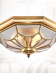 стиль все-медь абсорбирующая лампа американец гостиная антикварная медь лампа столовая медный потолок европеечный балкон медный светильник