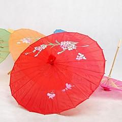 """Parasoller-Silke-Hage Tema / Asiatisk Tema-Bambus(Rød)19""""høy x 32 1/3"""" i diameter (48cm høy × 82cm i diameter) 19 tommer høy (48cm høy)"""