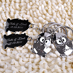 פלדת אל חלד מצדדים במחזיק מפתחות-6 Pairs חתיכה / סט מחזיקי מפתחות נושא אגדות מותאם אישית כסף