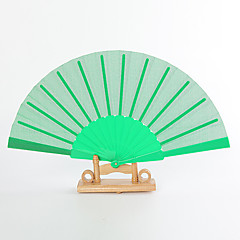 Seide Ventilatoren und Sonnenschirme-# Stück / Set Handfächer Garten Thema Klassisches Thema Grün 42cmx23cmx1cm 2.4cmx23cmx1cm