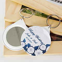 Personalized Mirror Key Ring - Peony (set of 12)