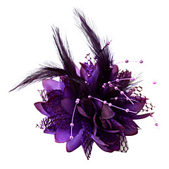 Women's / Flower Girl's Feather / Cotton Headpiece-Wedding / Special Occasion Fascinators / Flowers