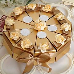 ouro caixa favor bolo com flores (conjunto de 10)