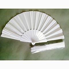 Ventilatoren und Sonnenschirme-# Stück / Set Handfächer Garten Thema Weiß 42cmx23cmx1cm 2.4cmx23cmx1cm