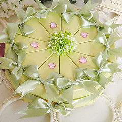 Spring Green Cake Favor Box (Set of 10)