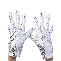Wrist Length Fingertips Glove Nylon Party/ Evening Gloves Spring Summer Fall Sequins