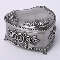 personalizado vindima tutania floral tema coração caixa de jóias estilizada