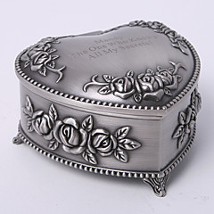gepersonaliseerde vintage tutania florale thema hart ontwerp sieraden doos