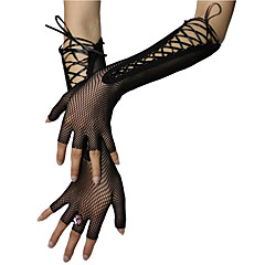 Elbow Length Half Finger Glove Nylon Bridal Gloves Party/ Evening Gloves Spring Summer Fall