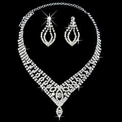 elegant fantastisk damene halskjede og øredobber smykker sett (45 cm)