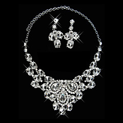Jewelry Set Women's Anniversary / Wedding / Engagement / Birthday / Gift / Party / Daily Jewelry Sets Alloy Rhinestone Silver