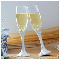 """Kieliszki toastowe do szampana z podwójnym sercem """"Nasza chwila"""""""