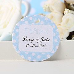 """Personalized Favor Tag - Blue """"Thanks"""" (Set of 36)"""