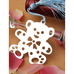 Silver Finish Teddy Bear Bookmark Favor With Tassel