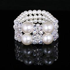 mode damer imitation pärla elastisk stil armband