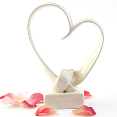 Cake Topper Non-personalized Hearts Resin Wedding / Anniversary White Classic Theme Gift Box