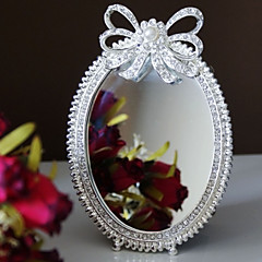 Silver Plated Alloy with A Bow Makeup Mirror