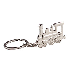 metal sølv tog nøglering