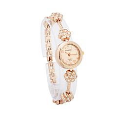 Gorgeous Women's Alloy Quartz Movement Glass Round Shape Dress Watch